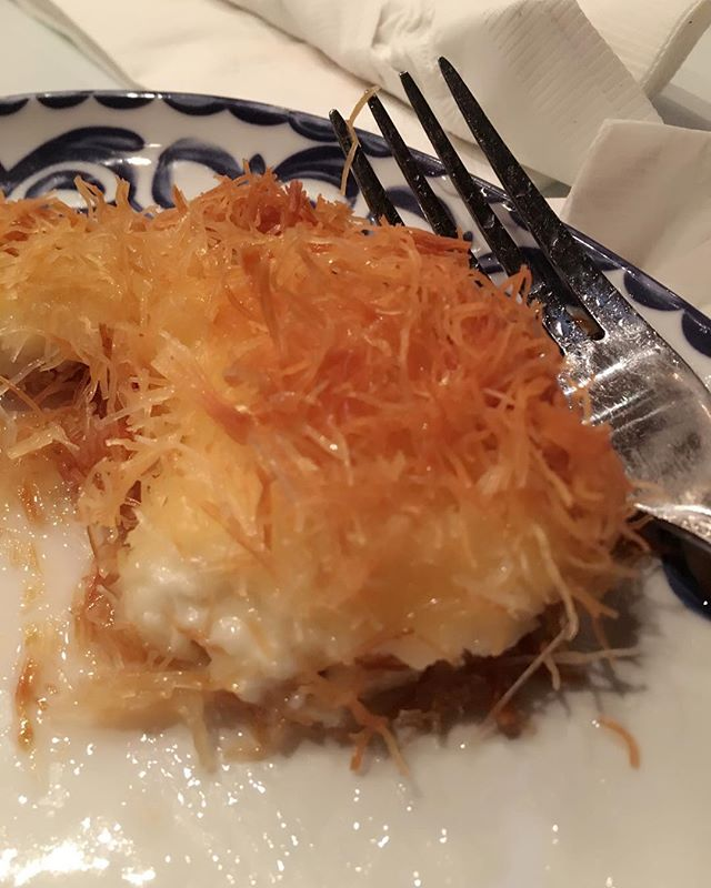 Thank you for sharing this delicious Lebanese Kunafeh, Marie-Rose.  It reminded us of being on tour in Jordan with @jojomhenry @derekihenry @scottboazman and @dbenoitballz trying this fabulous dessert...