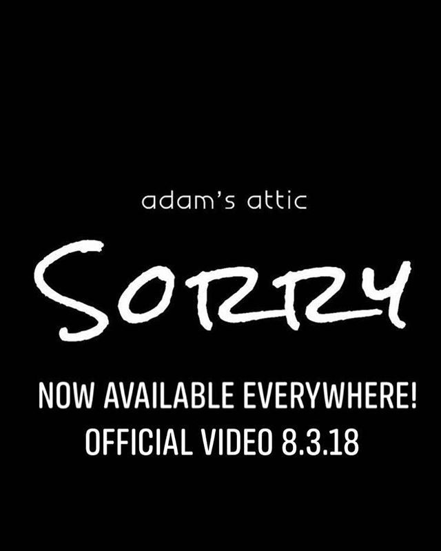 "The official music video for ""Sorry"" will be dropping in 4 days on August 3! #AdamsAtticMusic #AdamsAtticSorry #NewMusic #NewMusicVideo #Sorry #DigitalDownload w/ @jojomhenry @derekihenry @scottboazman @angelicalhenry @farcrystudioz @emilybrowntown @james.t.schlegel"