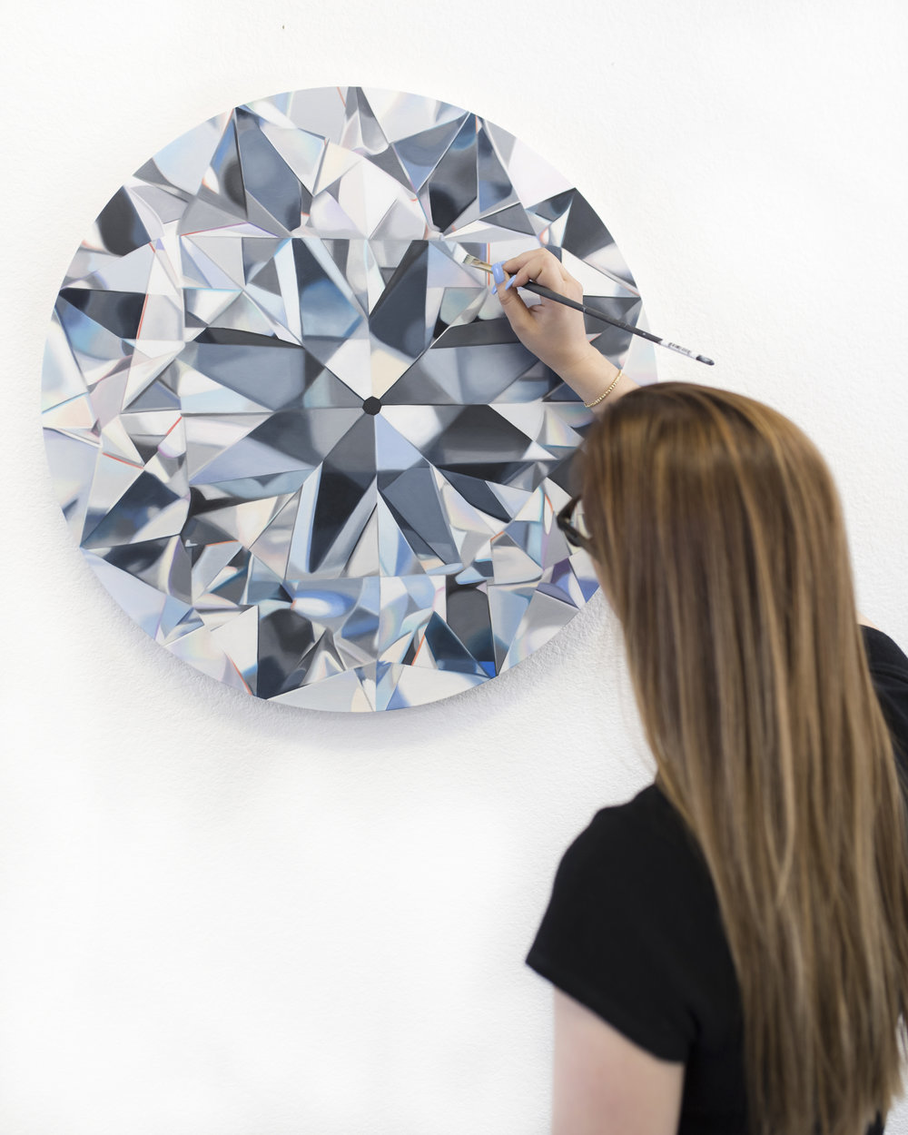 The diamond portraits are named after their owners. - The finished work of art allows us to appreciate the beauty of the diamond in a new way.Diamonds are symbolic of nature and romance ― now they are turned into a timeless work of art with a unique story.
