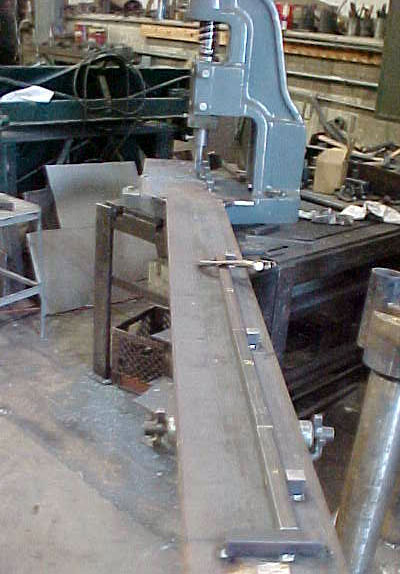 Infeed Table to #8 Fly Press