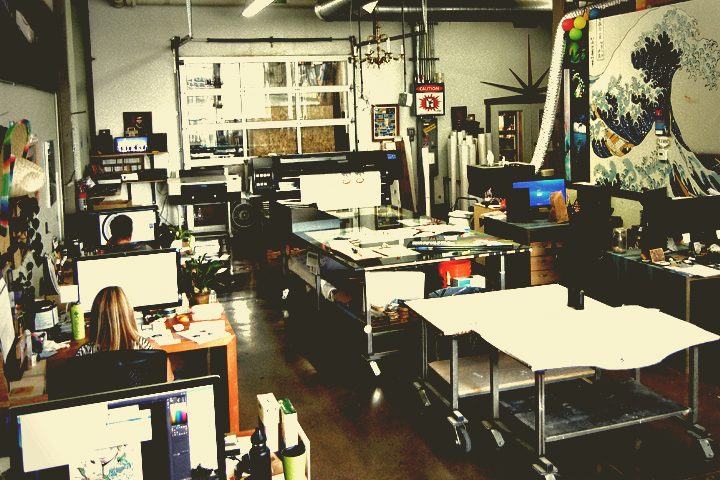 The shop - Part art studio, part production warehouse, all problem solvers.