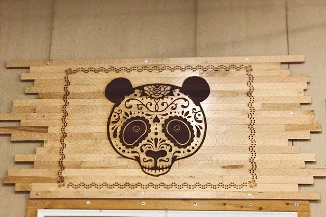 Laser on wood, for everything from delicate details to solid panda ears 🎉🐼🎉