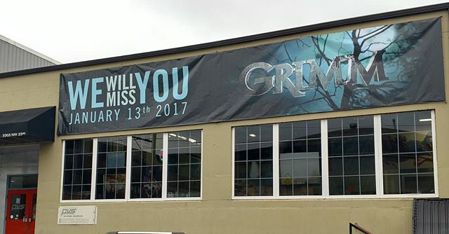 Our friends and neighbors for the past few years are turning the lights off for the final time next week. We will miss everyone who works on the Grimm set. Take care! @nbcgrimm #grimm #pdx