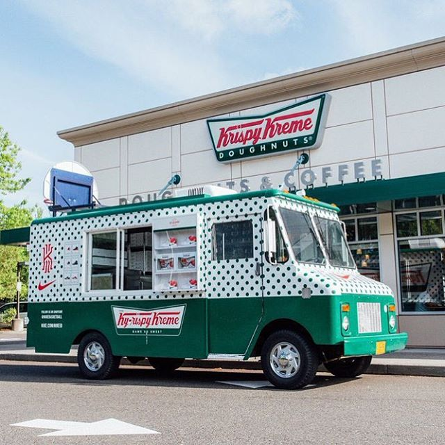 We love doughnuts so this project was right up our alley. #kyrie2 #doughnuts #vehiclewrap