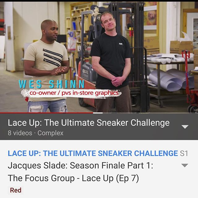 The sneaker designs are 🔥🔥🔥...but are contestants ready to bang out a display to best present their masterpieces? •••We had way too much fun with the awesome folks at @pensole_academy and @complex filming @laceup.tv 👟👟👟check it out on YouTube Red!