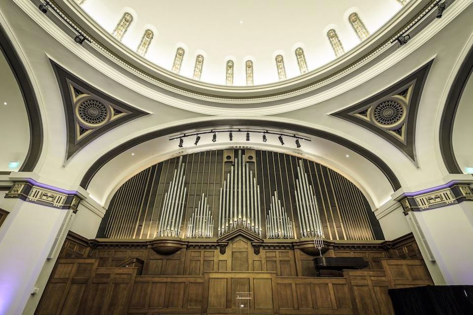 Some of the organ pipes were saved. (Photo by Daniels Real Estate)