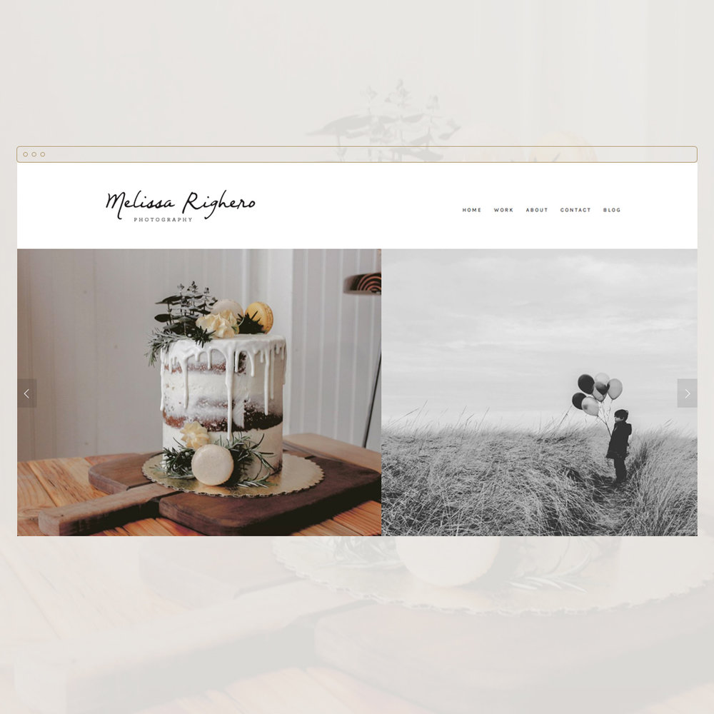 Melissa Righero Photography - Website for an Oregon-based photographer who needed an online portfolio in which to showcase her talents.Visit → www.melissa-righero.com