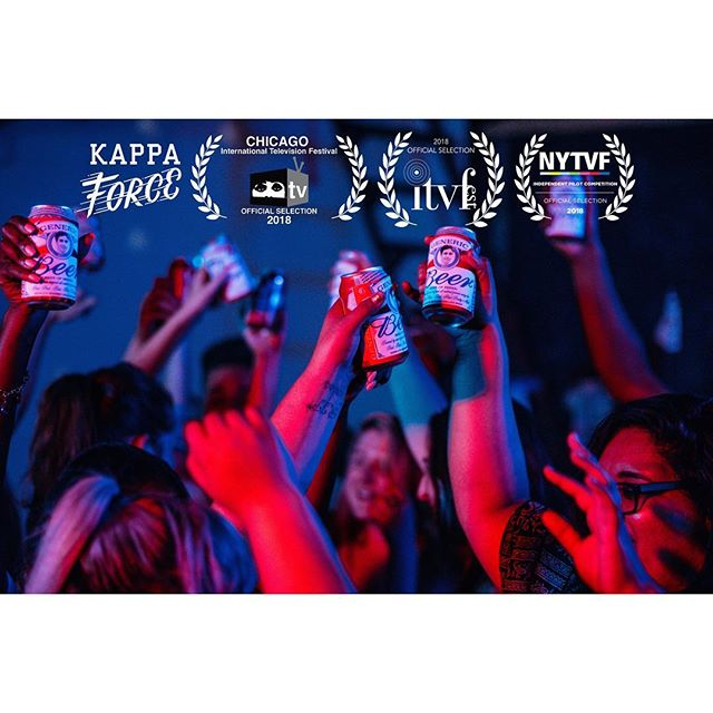 It's time to raise a #genericbeer because @kappaforceseries will be screening in its entirety at @itvfest! This festival is sponsored by @hbo and the Television Academy and is in Vermont and also did I mention your butt looks great in those cutoffs?