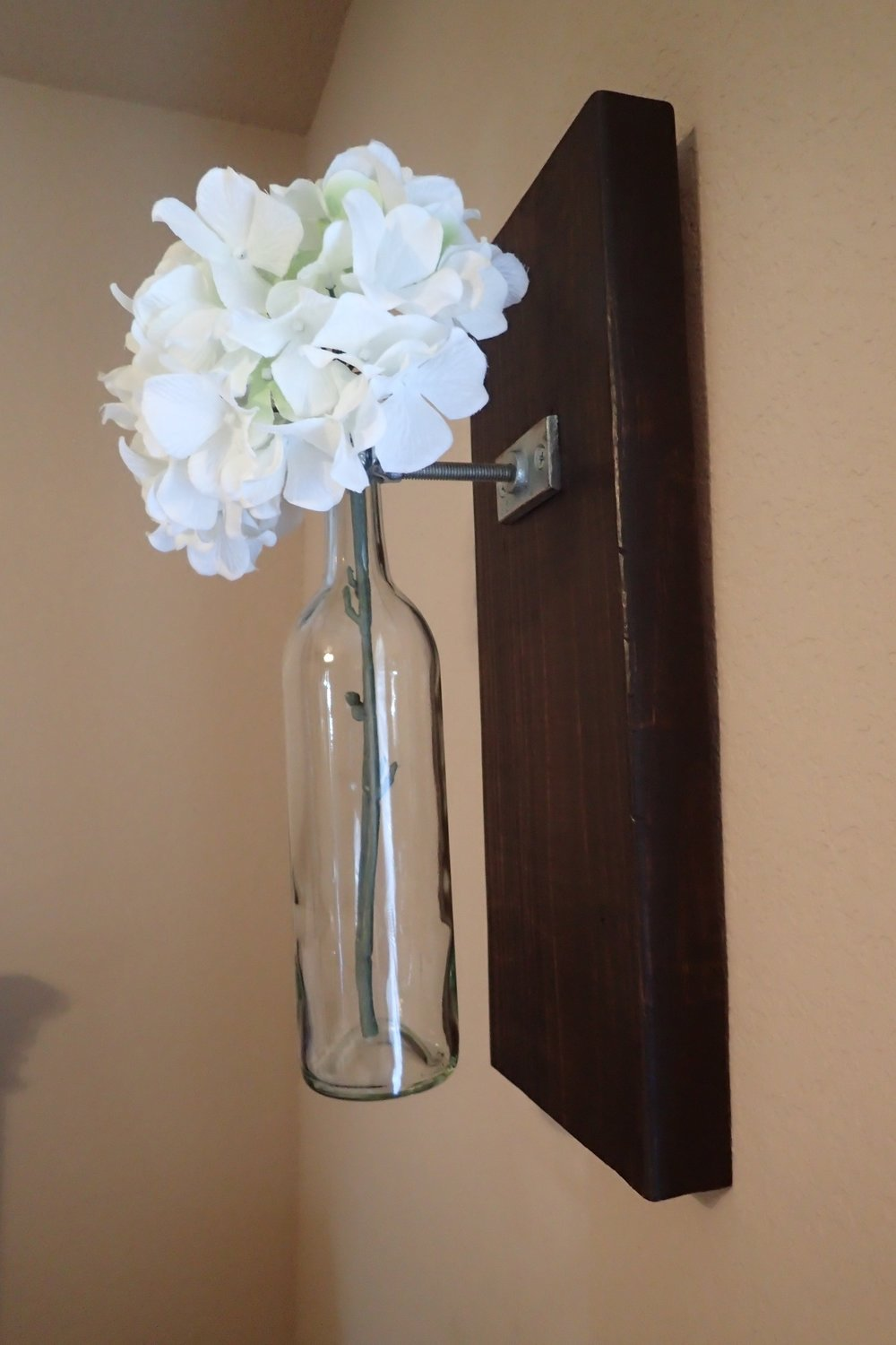 Wall decor nowlin designs wine bottle wall vase 25 this wall vase includes a glass bottle secured by sturdy reviewsmspy
