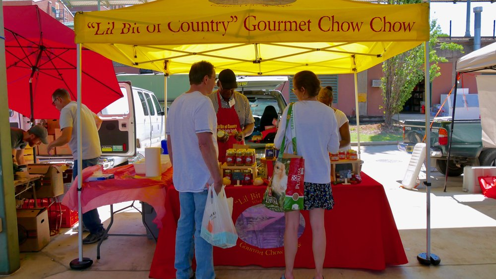 Our booth at the Memphis Farmers Market