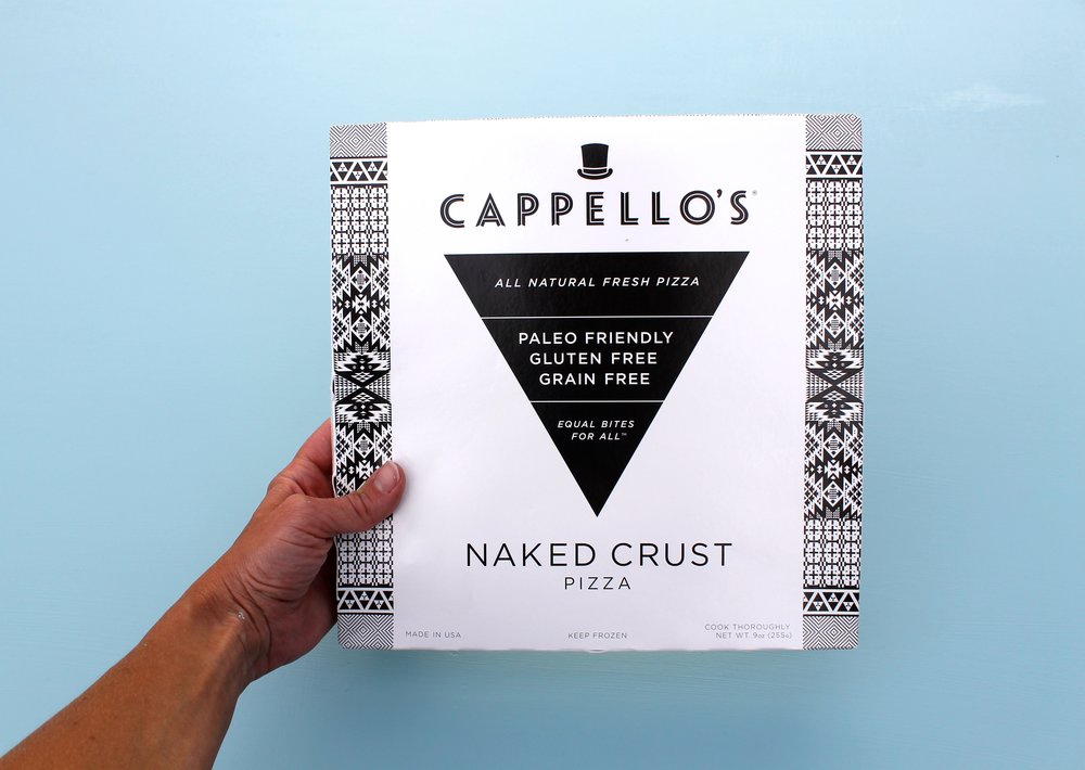 This Cappello's crust, like all their products, is entirely grain-free. I feel full, but not too full, once I finish a couple slices, and most importably am free of thejoint pain I usually feel from grains. All ingredients are Non-GMO and Paleo Friendly.