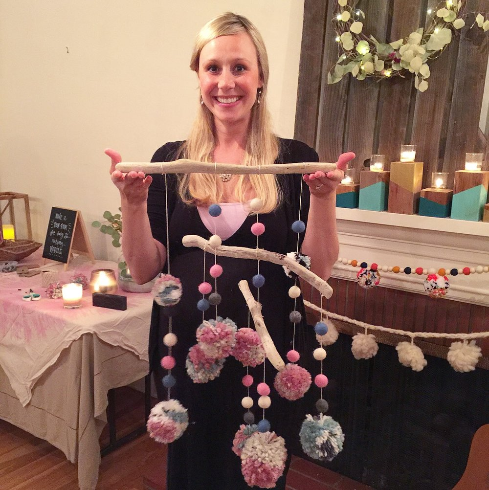PRIVATE EVENT: Pom Pom Garland and Mobile BABY SHOWER!  November 2017