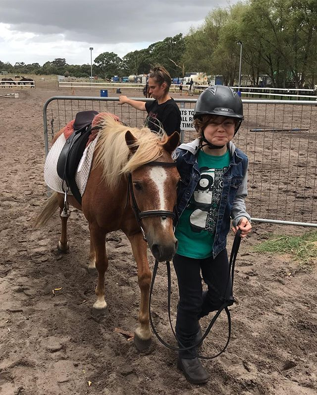 I am overjoyed to have infected my son and passed on the gene for a love of horses. Tiggy started his equine education today, his goal is to ride the Yarra Trail with his grandma.