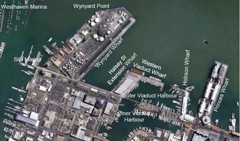 Existing Wharfs and Marinas 2018
