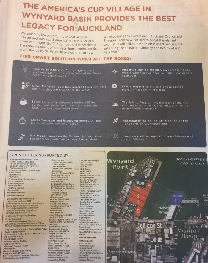 NZ Herald 7 March 2018  -CCRG as signatory