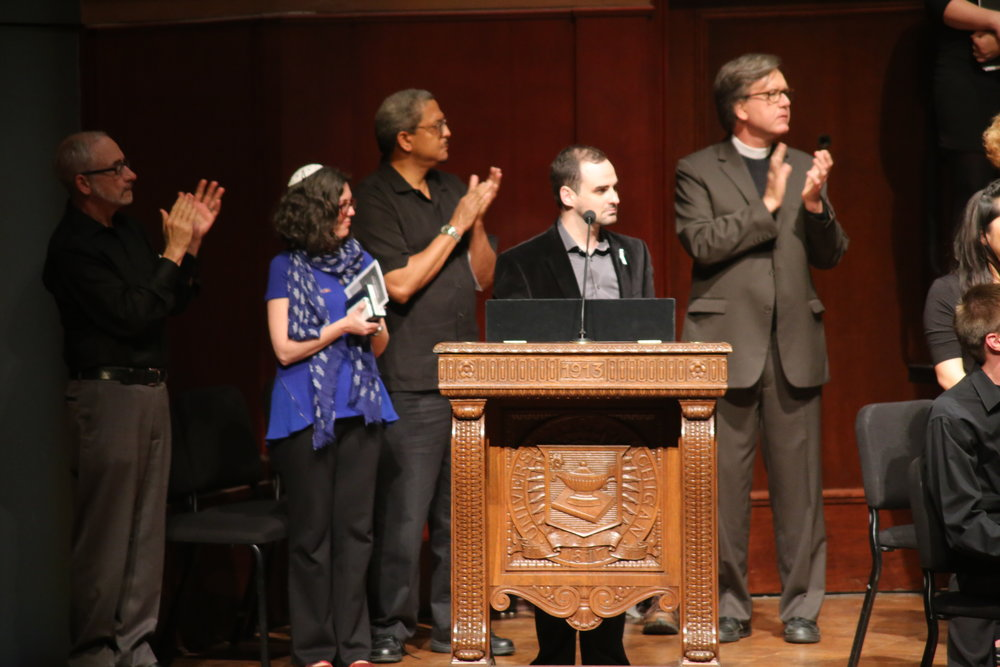Austin speaking at the Requiem for Orlando