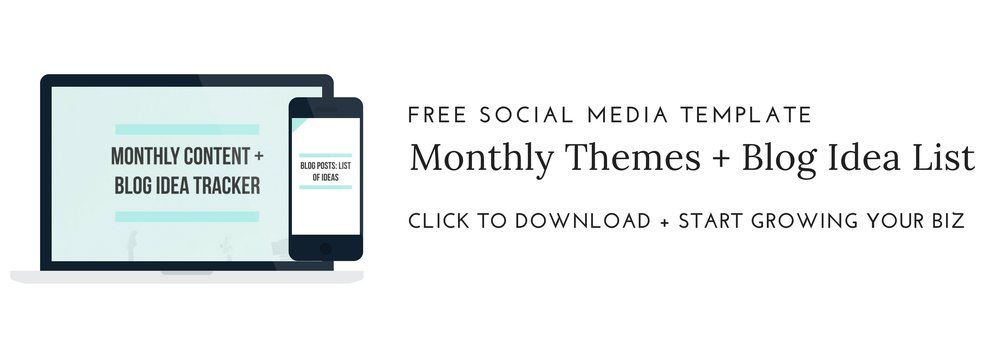 Social Media Monthly Content Planner