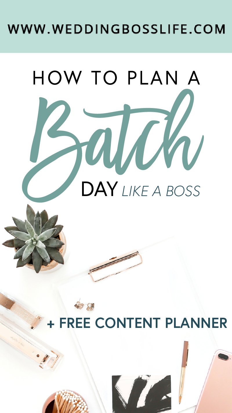 How to plan a batch day like a boss