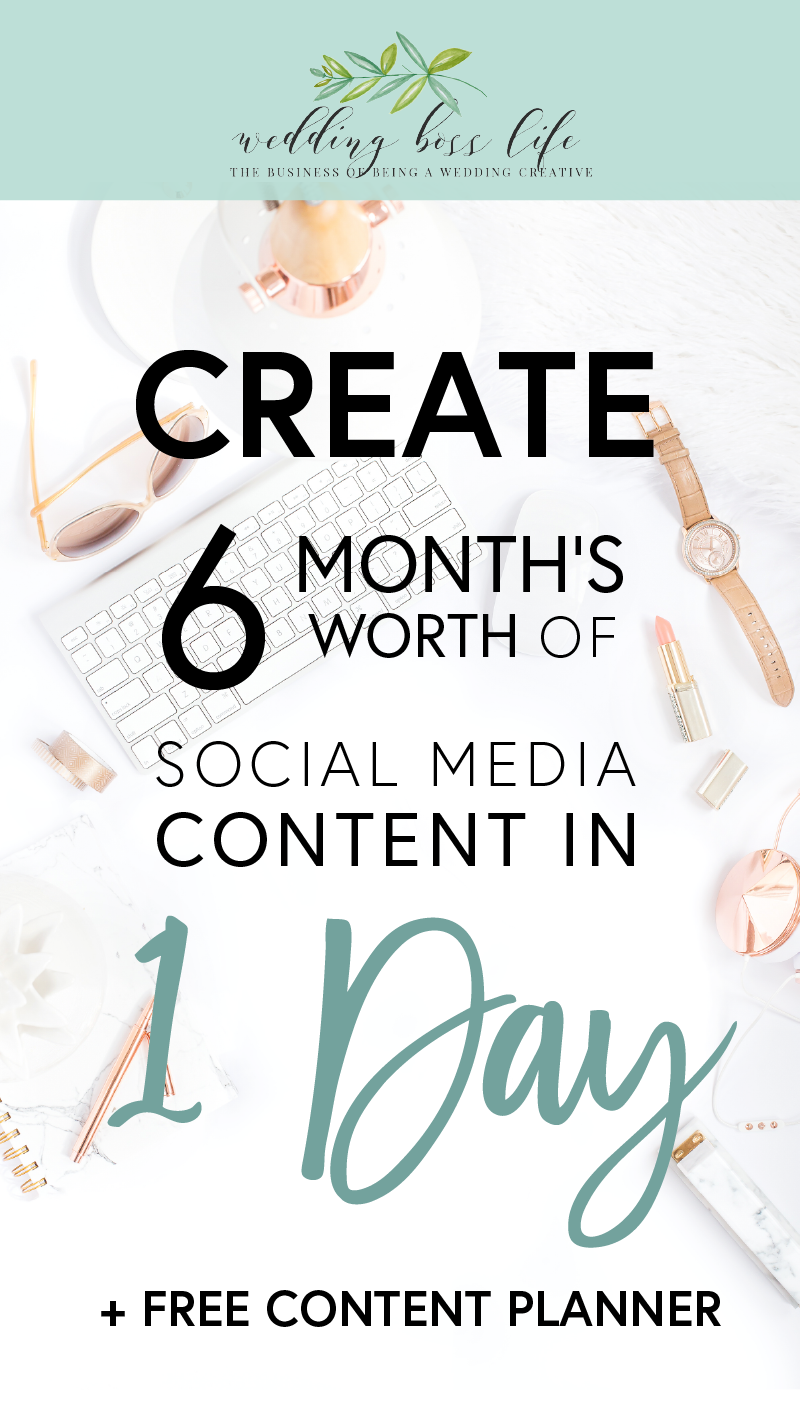Create 6 month's of social media content in 1 day