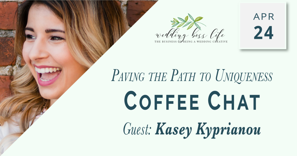 Kasey K of revelry + heart on Wedding Boss Life