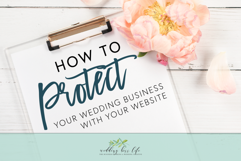 Protect Your Business as a Wedding Professional