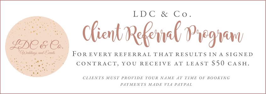 Referral Program - This is an example of what to say on a graphic or card that you send clients.