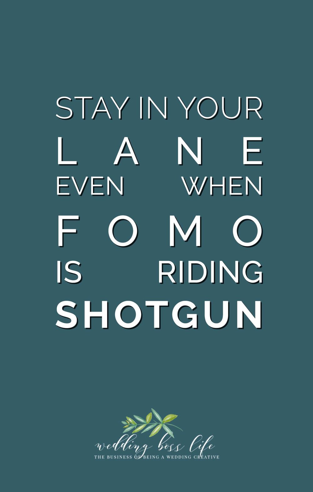 Stay In Your Lane Even When FOMO is Riding Shotgun