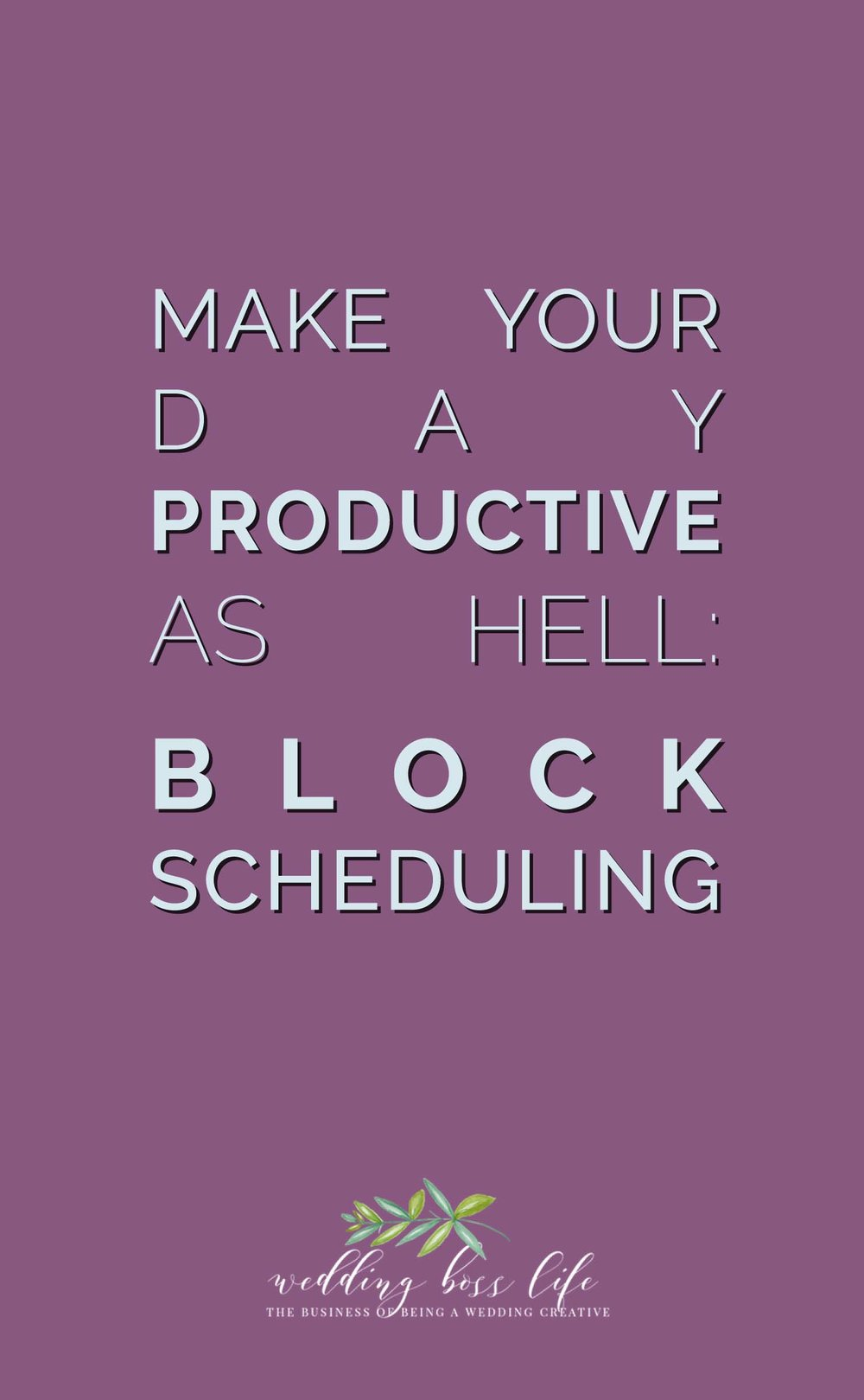 Block Scheduling for Entrepreneurs
