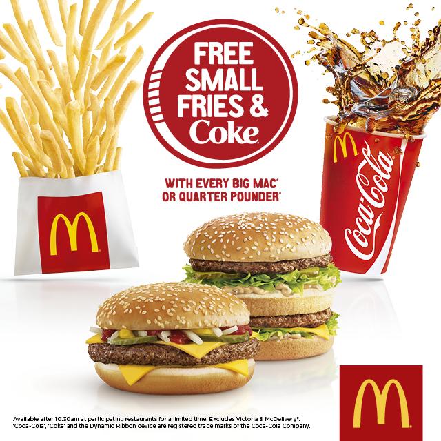 McDonald's - Free Fries and Coke Print