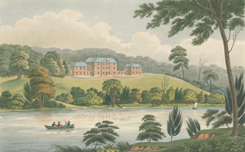 View of the Female Orphan School, Near Parramatta by Joseph Lycett, 1825 (State Library of Victoria 30328102131561/13)