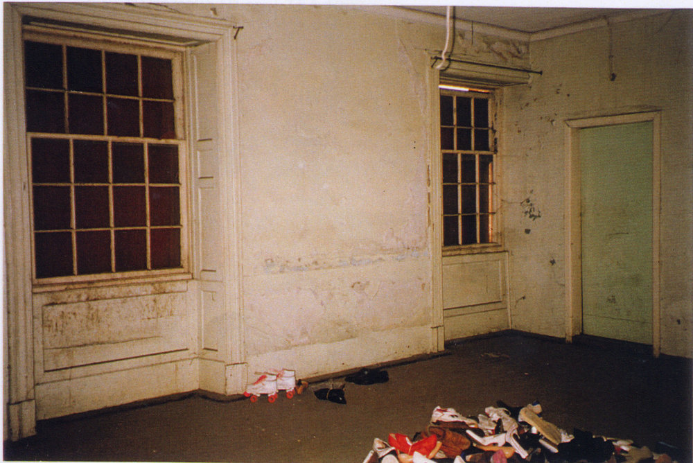 Inside the building prior to its restoration (Tanner and Associates Architects)