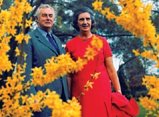 Gough and Margaret Whitlam at The Lodge