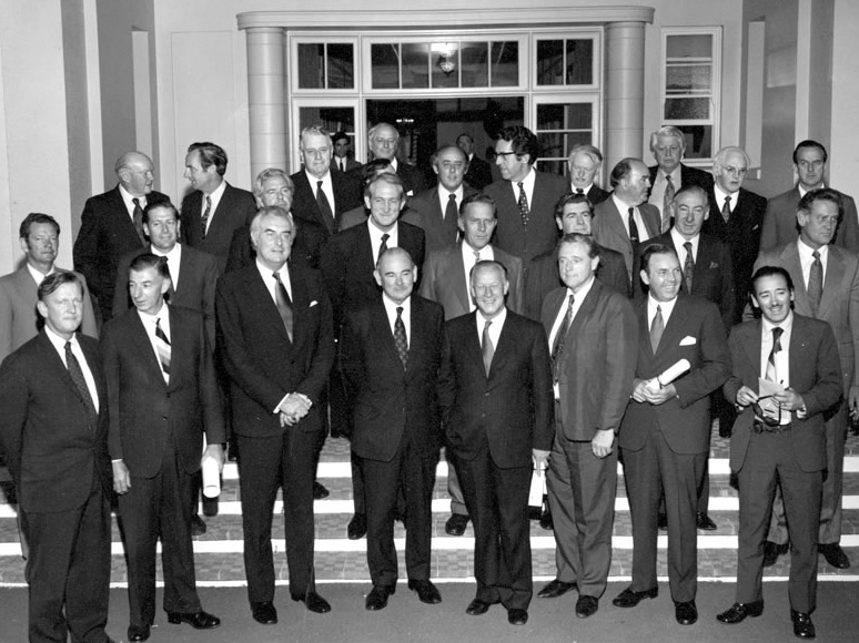 Whitlam Ministers - The achievements of the Whitlam Government were not the work of one man alone, but of a team of ministers. 32 men served in the government of Gough Whitlam between 1972 and 1975.