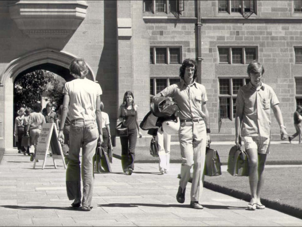 Students at the University of Sydney in 1974