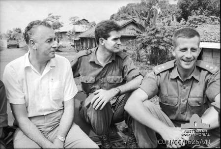 Gough Whitlam as Deputy Opposition Leader visiting Australian troops in Phuoc Tuy province, Vietnam