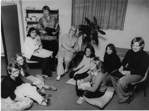 The original collective that formed the Liverpool Women's Health Centre in 1975. The Liverpool Women's Health Centre was established with funding from the Whitlam Government