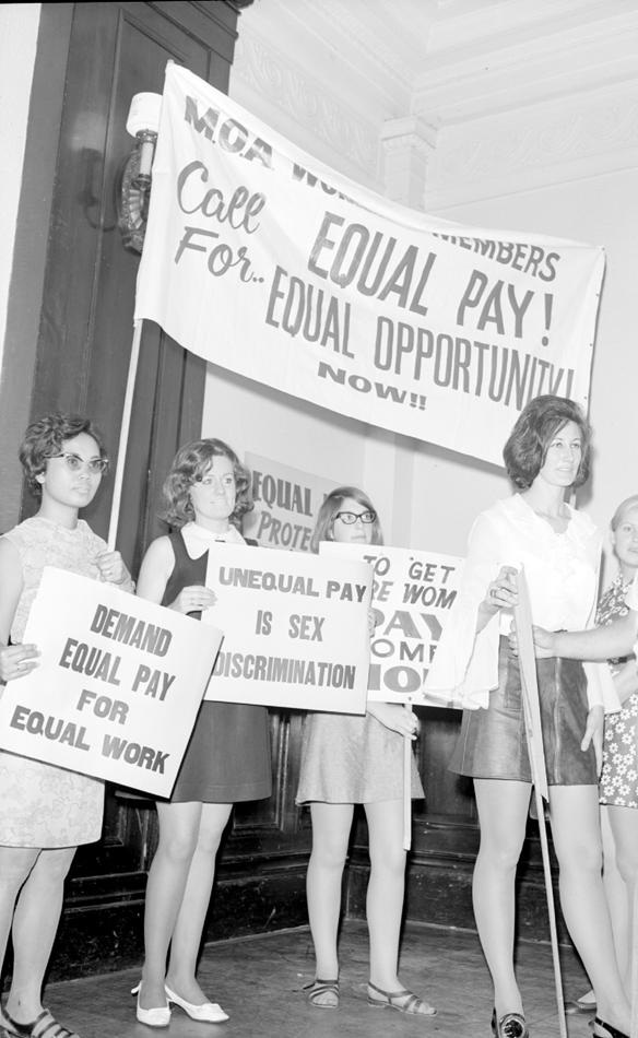 Equal Pay Protest, Melbourne Town Hall, Febuary 20, 1969