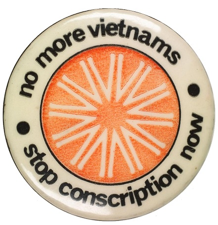 Vietnam moratorium badge
