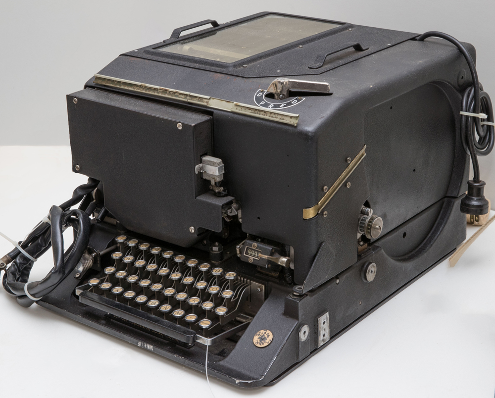 SIGABA or electronic cypher machine mark II, c1940. On loan from the National Cryptologic Museum, Maryland US.