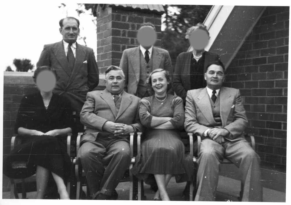 Vladimir and Evdokia Petrov with ASIO officers Ron Richards (seated) and Ernie Redford, 1954.