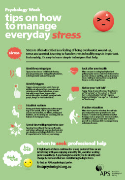 Tips on how to manage everyday stress