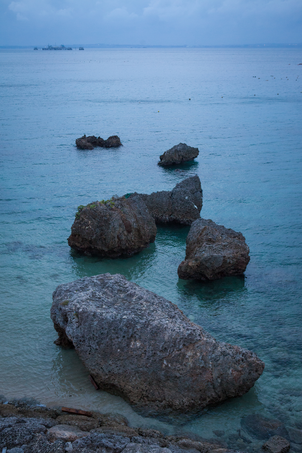 Rocks off of Ikei Island, Okinawa, Japan.