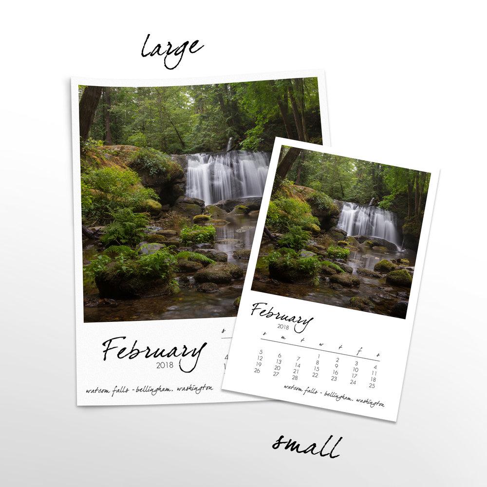 wandering washington 12 month calendar with custom start date s