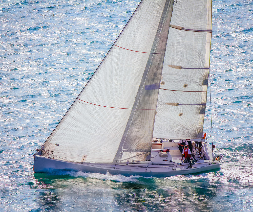 The J/133 JUNO with carbon X-Drive sails.