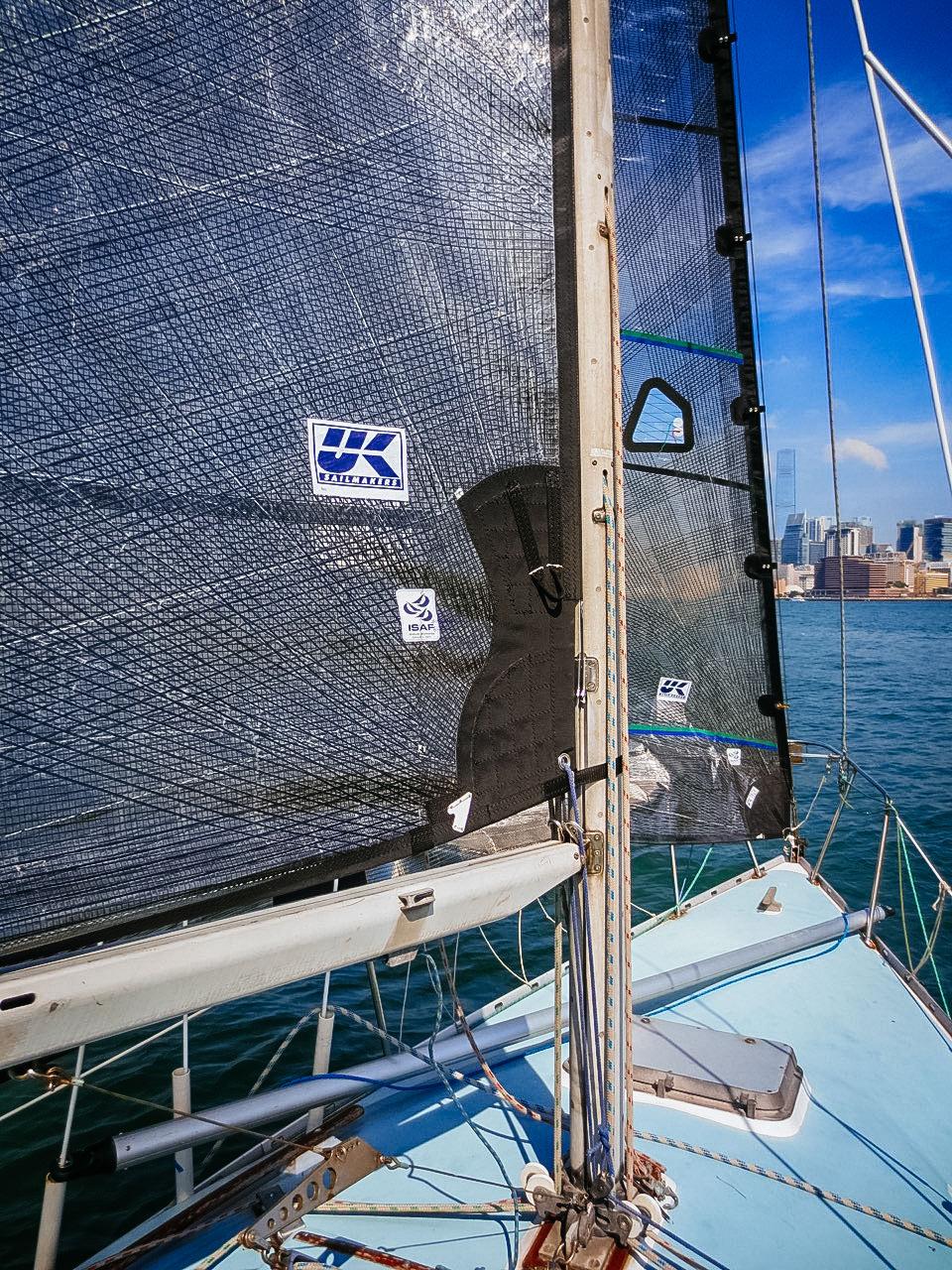 X-Drive carbon mainsail and genoa.