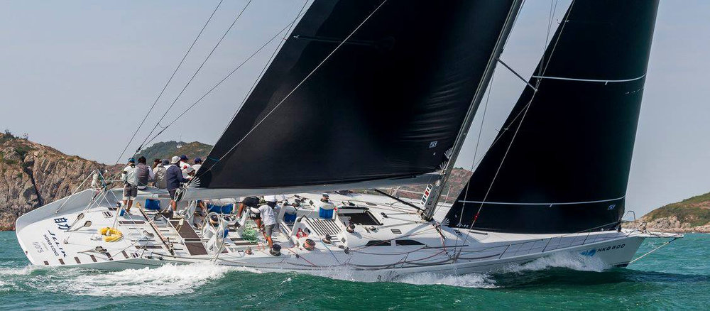 Frank Pong's Reichel/Pugh 77 JELIK racing with Uni-Titanium sails. Photo courtesy of the China Cup International Regatta .