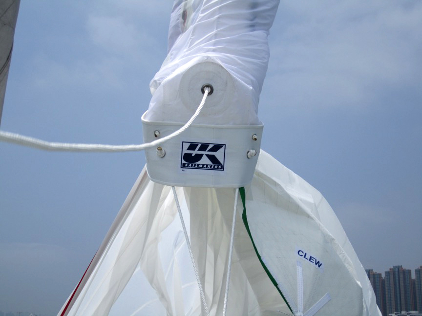 The spinnaker dousing sock allows short-handed crews handle cruising spinnakers with ease.