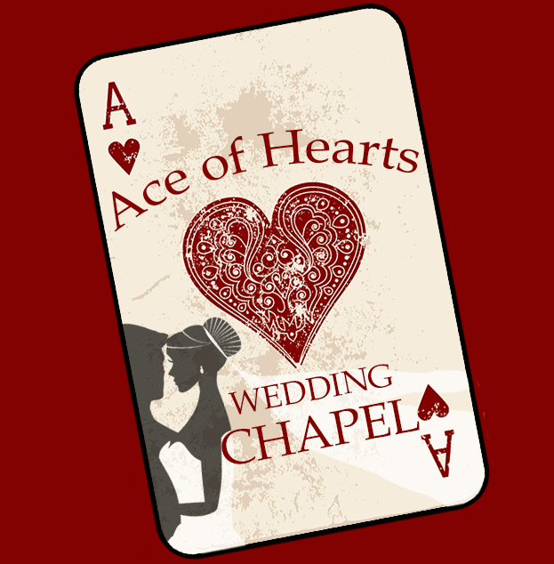 """Ace of Hearts - Wedding ChapelLas Vegas is the """"Wedding Capital of the World"""" and for good reason! Millions make their way here each year to say """"I Do"""" to their loved one. The Ace of Hearts Wedding Chapel located in the Arts District will surely provide you with the wedding you have always dreamed of!Hours + InfoSuite #120+1.(702).409.0011info@acechapel.comwww.acechapel.com"""