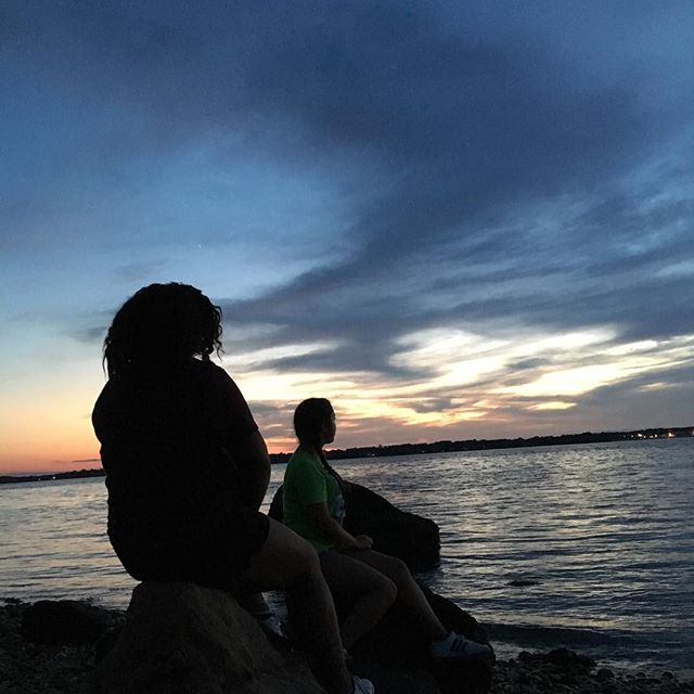 @nani._  and @taliaschandel hanging out by the sunset 🌅 #KiDSNEEDMoRECamp #campmemories