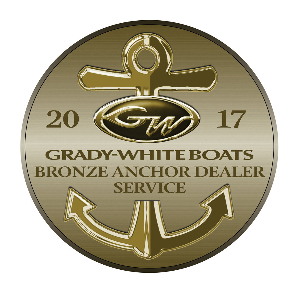 The Bronze Anchor Award for Customer Satisfaction signifies that Port of Egypt Marine is one of the top three ranking dealers in customer satisfaction index scores among all Grady-White Boats dealers worldwide.
